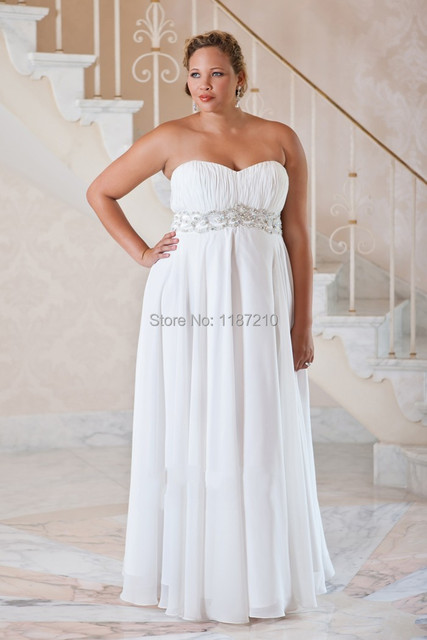 Long Plus Size Wedding Dresses 2017 Summer Beach Bridal Gowns Backless Casual Dress Simple Sweetheart
