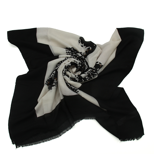 BW Leopard Walking Scarf | Shawls and Wraps | Up to 60% Off Now