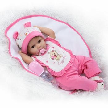 "17""42cm Alive Bebe Accompany Doll vinyl newborn Reborn silicone lol dolls kids Xmas Brinquedos Limited Collection Birthday Gift"