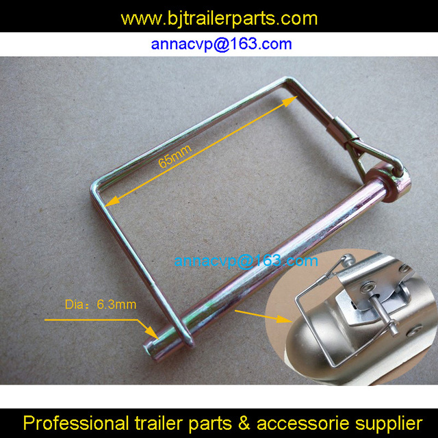 TRAILER COUPLER SAFETY SQUARE PIN 1/4\