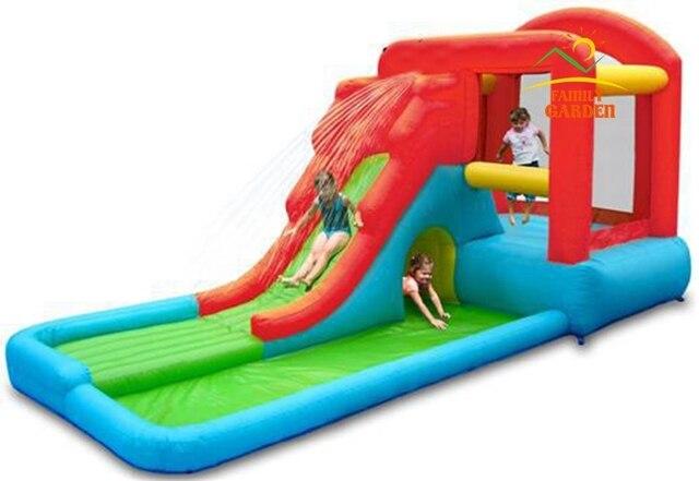 00b55201958b49 Kids Inflatable Water Slide Big Pool Bounce House Jumper Bouncer Jump  Bouncy Castle