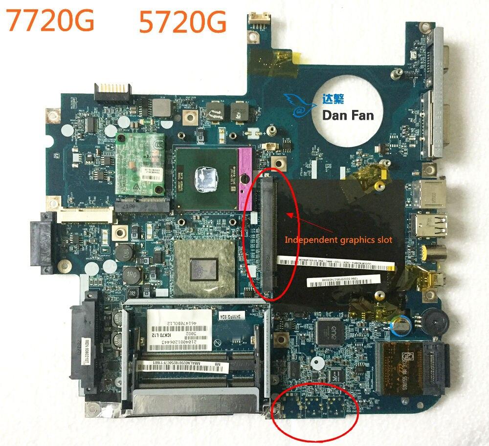 עבור ACER Aspire 7720G 5720G מחשב נייד האם ICL50 LA-3551P MBALN02001 Mainboard 100% נבדק באופן מלא עבודה