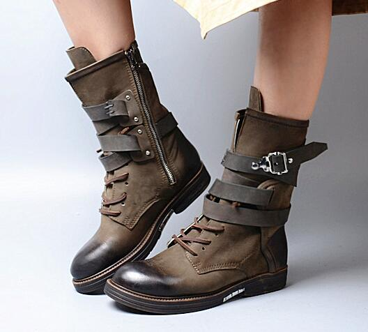 Fashion Soft Leather England Women Chelsea Boots Vintage Style Flat Casual Shoes Woman Gladiator Short Motorcycle Booties Botas 2017 brand new women short designer boots flat dress shoes woman gladiator big size cool rain booties outwear casual shoes