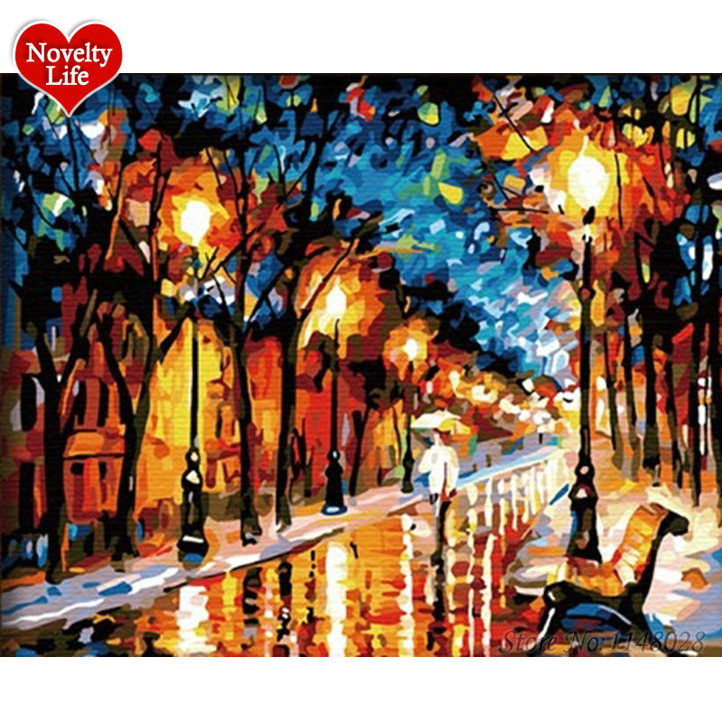 Arts,crafts & Sewing Hearty Diy Digital Painting By Numbers Package Hug In The Rain Oil Painting Mural Kits Coloring Wall Art Picture Gift Frameless Home & Garden