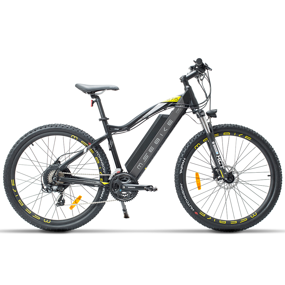27.5 Inch E Bike, 400W 48V 13Ah Mountain Bike, 5 Level Pedal Assist, Suspension Fork, Oil Disc Brake, Powerful Electric Bicycle