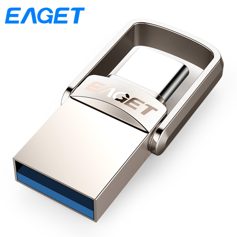 Eaget CU20 USB Flash Drive 16Gb 32GB 64GB Usb 3.0 Type C Pendrive flash disk U Disk Pen drive Metal USB stick For Samsung Phone eaget cu10 portable type c 3 1 usb3 0 dual interfaces u disk 32gb
