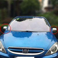 BBQ FUKA Door Side Wing Mirror Rear View Cover Trim Car Styling 2 Pcs For Peugeot