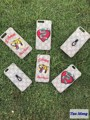 Tiger bee Embroidery phone shell Fashion logo luxury Brand phone case cover bag for iPhone 6 6S 6 plus 7 plus Shark smiling face