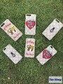 Tigre bordado de abelha escudo do telefone logotipo da marca de luxo da moda phone case capa saco para o iphone 6 6 s 6 plus 7 além de tubarão sorrindo rosto