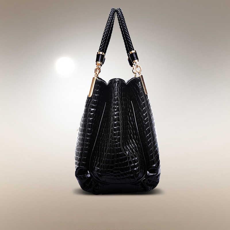 LADSOUL célèbre marque Designer femmes sac à main en cuir sac à main de luxe dame mode sac à main sac à bandoulière Bolsa Crocodile Grain