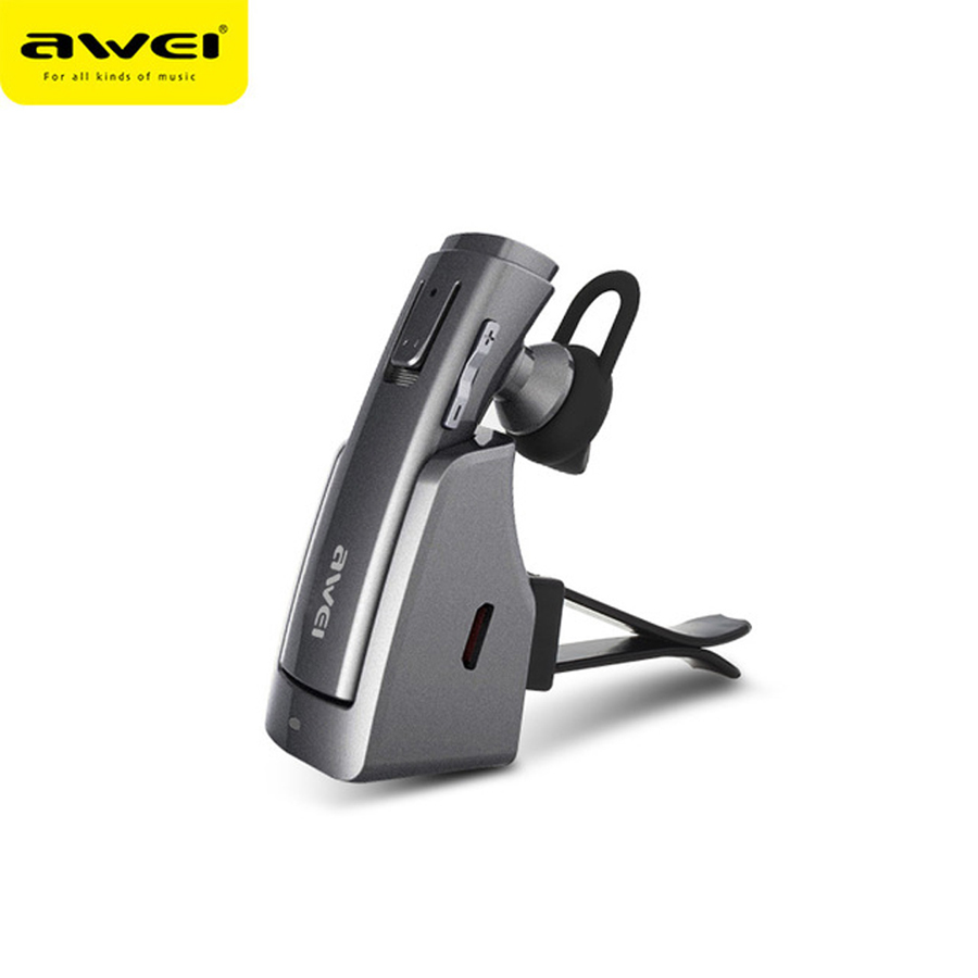 Awei Hands Free Car Handsfree Blutooth Cordless Earbud Wireless Headphone Auriculares Mini Bluetooth Headset Earphone For Phone awei a870bl multi function bluetooth v4 1 hands free call headset dual usb car charger earphones for android ios smartphone