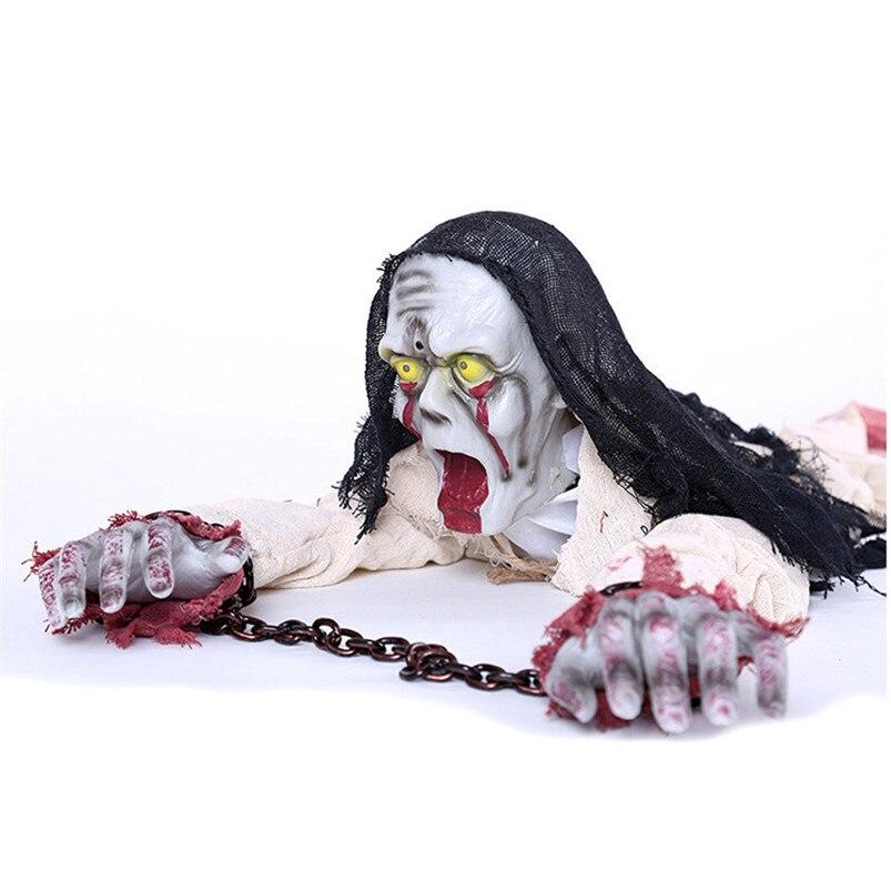 Halloween effrayant fantôme Halloween décorations effrayant crâne fantôme poupée maison hantée échapper horreur accessoires ramper poupée hantée jouet