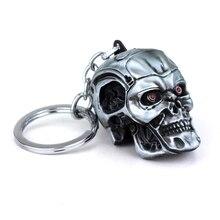 Hot Movie Terminator 3D Skull Keychain High Quality Skeleton Head Metal Keyring Men Car Women Bag Jewelry Accessories