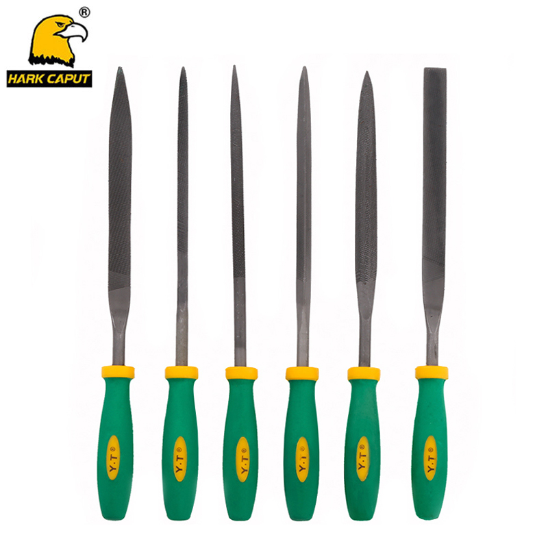 6pcs/set Needle Files 140/160/180mm Metal File Set For Sharpening Stone Wood Carving Jewelry Grinding Hand File Tools стоимость