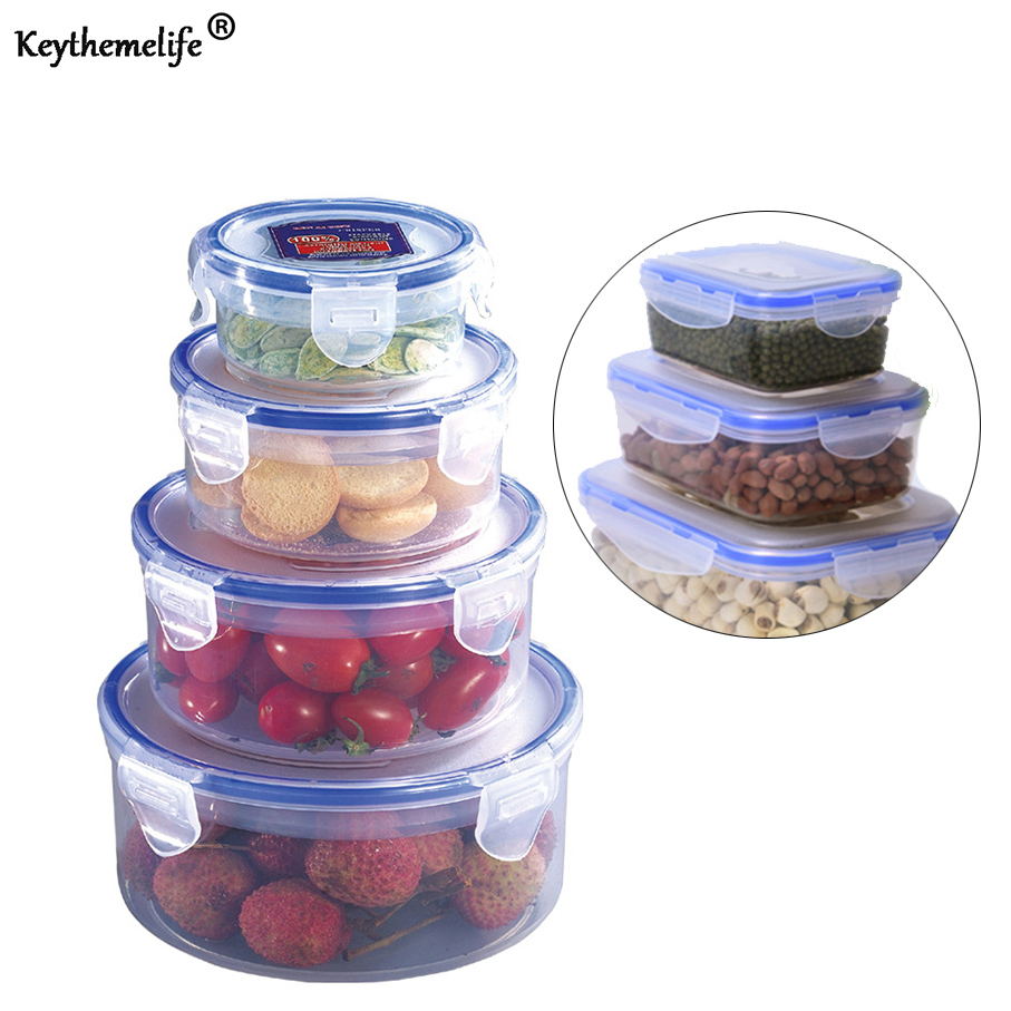 Keythemelife 1PCS Kitchen Food Storage Box Preservation Box Plastic ...