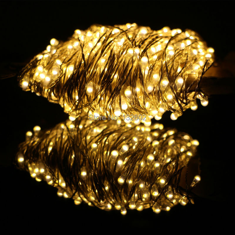 50m 500 Leds Silver Wire Warm White LED String Light Starry Lights Christmas Tree Fairy Lights+Power Adapter (UK,US,EU,AU Plug) 2w 3500k 40 led warm white decorative string light warm white 4m