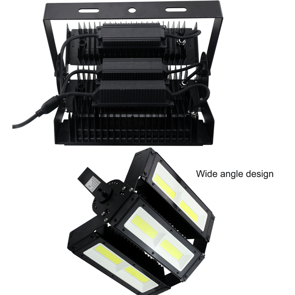 50W Modular COB LED Adjustable Toughened Glass Cover 200W 300W New Floodlight Fixture for Warehouse Piazza Tunnel