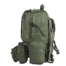 50L Multifunction Sport Bag Molle Camouflage Climbing Hiking Camping 8 Colors