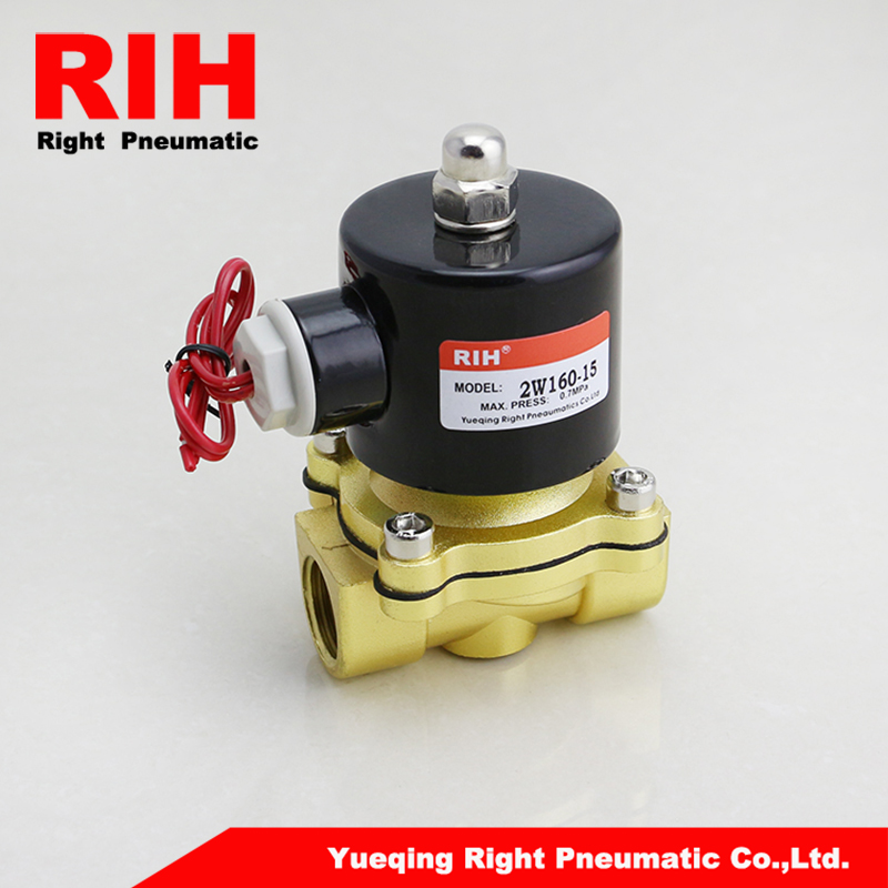 2/2Way  normal closed brass water solenoid valves G1/2'' Water Air Gas Fuel Solenoid Valve 2W160-15 3924450 2001es 12 fuel shutdown solenoid valve for cummins hitachi