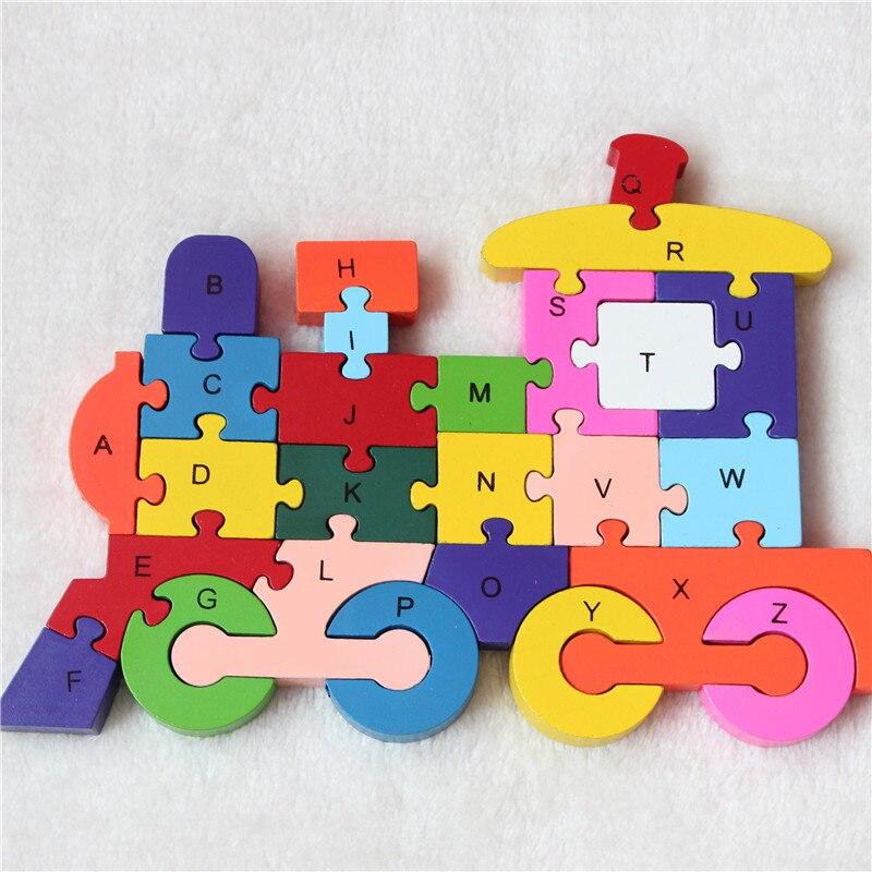 Новый развивающие игрушки для детей поезд деревянные игрушки деревянные дети 3d Puzzle Детские пазлы Brinquedo