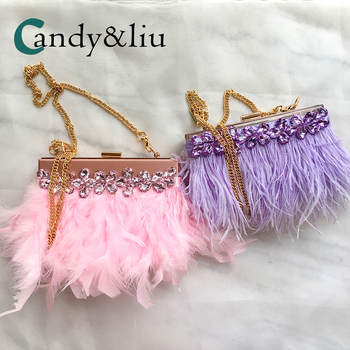 Clutch Purse Evening Bags Womens Crystal Hard Box Feathers Acrylic Classic Flap Bag Rhinestones Dinner Party Wedding Bags Custom box clutch purse