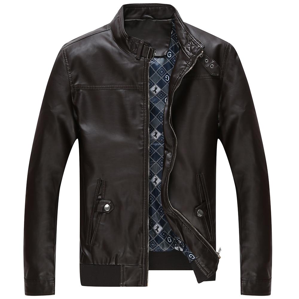 Jaqueta de couro masculina erkekler deri ceket kürk orta yaşlı - Erkek Giyim