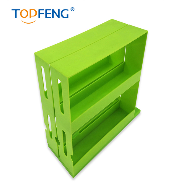 Slide Swivel TIDY Store White GREEN Cabinet Organizer Rack Shelf SPICE  Spices SPICY Store Up To