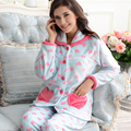 Winter Flannel Women Pajamas Sets Europe  American Apparel Sleepwear Woman Pajamas Long Sleeve Plus Size Warm Home Wear M-2XL