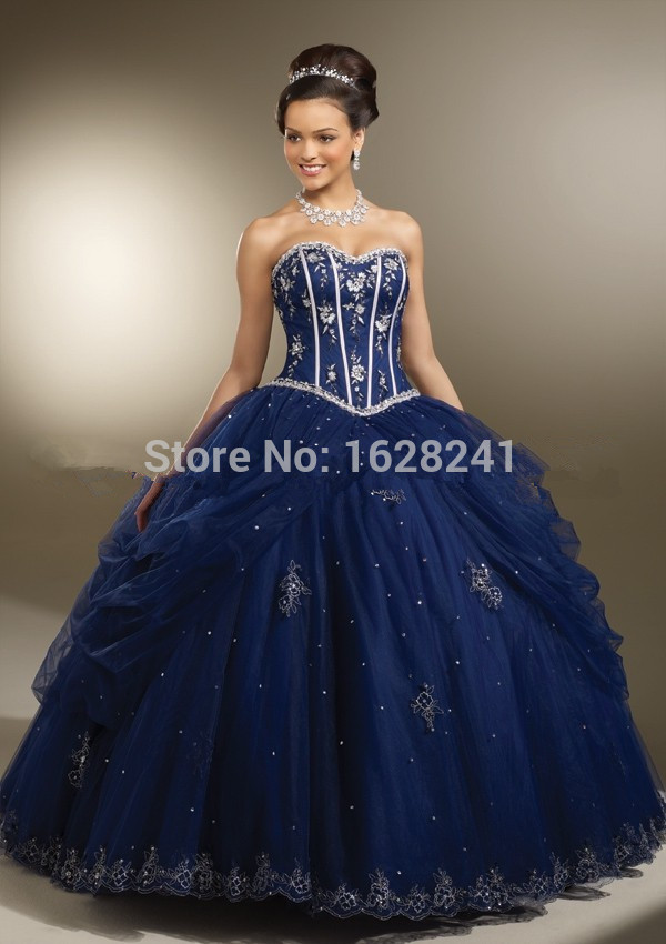 Online Get Cheap 2015 Royal Blue Quinceanera Dresses Ball ...