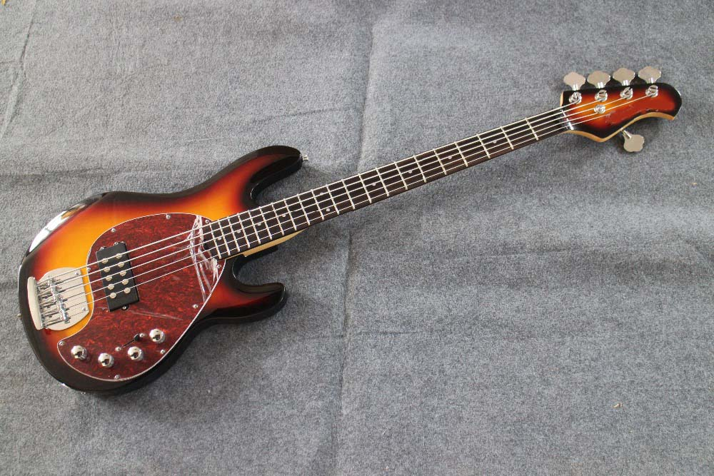 sunburst tortoise pickguard 5 string music man olp bass guitar guitarra all color available free. Black Bedroom Furniture Sets. Home Design Ideas
