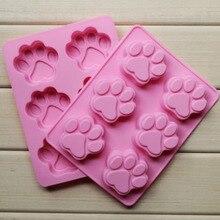 Горячие формы для выпечки печенья собачья лапа силиконовые формы для украшения торта инструменты для печенья Кондитерские аксессуары кухонные аксессуары