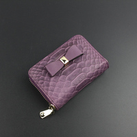 new women genuine leather card holder serpentine bag female coin purse mini bag retro