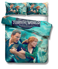 Musolei Jurassic World Dinosaur 3D Bedding Set Queen Size Duvet Cover set comforter cover set bedclothes Home room Textiles(China)