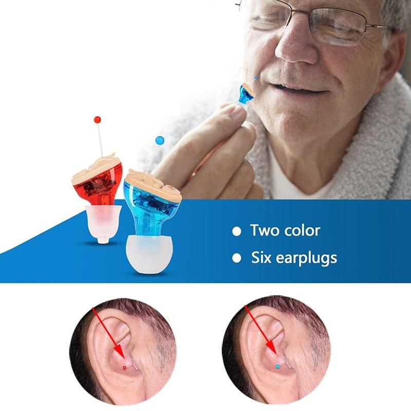 Hearing Aid Invisible Inner Ear Hearing Amplifier Enhancer Sound Amplifier Wireless Digital Mini Volume Adjustable Hearing