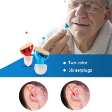 Hearing Aid Invisible Inner Ear Hearing Amplifier Enhancer Sound Amplifier Wireless Digital  Mini Volume Adjustable Hearing Aid f 16p wired volume adjustable sound voice amplifier hearing aid 1 x aa