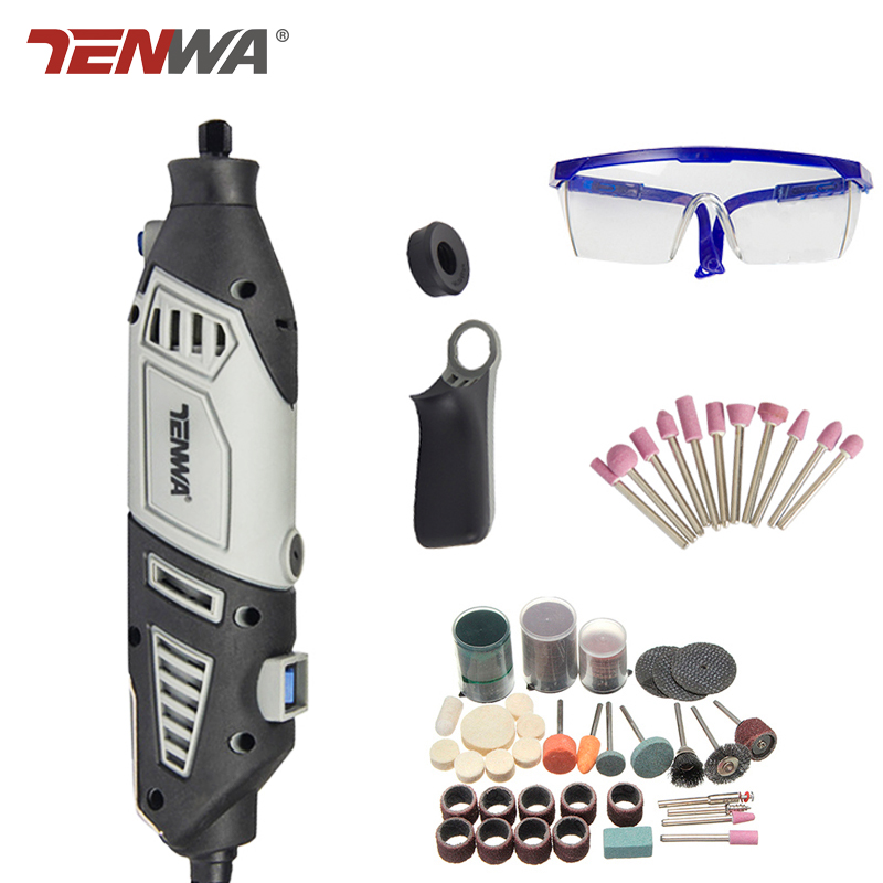 Tenwa 170W Electric Mini Drill Variable Speed Rotary Tools Grinder Grinding Machine  Accessories For Dremel kits Can be Choosed