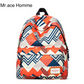 Mr.Ace Homme Red Backpack Women Fashion Designer Bags High Quality Casual School Bags for Teenagers Male Female Travel Back Pack