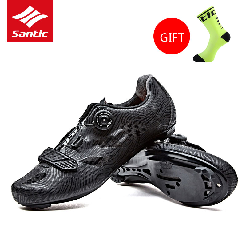 2017 Santic Mens Pro Cycling Shoes Road Bike Shoes Breathable TPU MTB Zapatillas Athletic Bicycle Self-locking Chaussure Vtt free shipping breathable athletic cycling shoes road bike bicycle shoes nylon tpu soles for road racing mtb eur35 39 us3 5 7