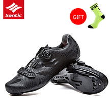 2017 Santic Mens Pro Cycling Shoes Road Bike Shoes Breathable TPU MTB Zapatillas Athletic Bicycle Self-locking Chaussure Vtt