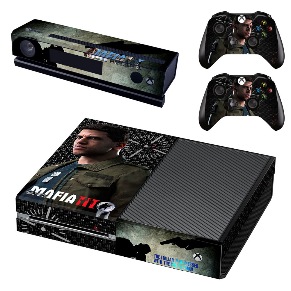 Mafia III Decal Skin Sticker for Microsoft Xbox One Kinect and Console and 2 Controllers Vinyl Game Stickers