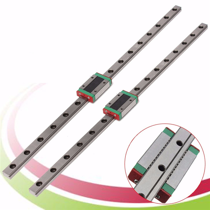 цена на MTGATHER 1PCS MGN12 linear rail guide 3D Printer Accessories 12mm miniature linear rail slide+MGN12H Linear carriage