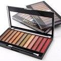 Belleza Maquillaje 12 Del Brillo Del Color de Sombra de Ojos Shimmer Paleta De La Mujer Maquillaje de Ojos Cosméticos Sombra de Ojos En Polvo Set Kit