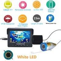 MAOTEWANG 4.3 Inch 1000tvl Underwater Fishing Video Camera Kit 12 PCS White LED Video Fish Finder Lake Under Water fish cam