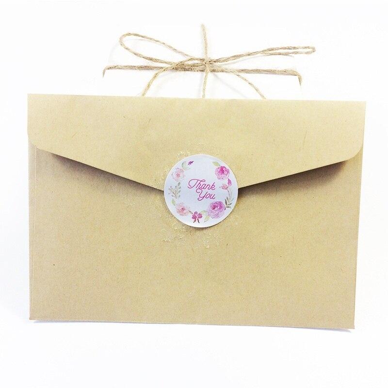 Купить с кэшбэком 120pcs/lot 'Thank you' Flower Circular Sealing Stickers DIY Baking Packaging Decoration Label Stickers Cake Box Party Decoration