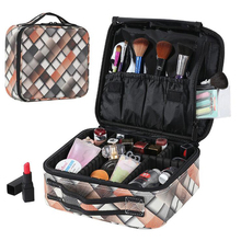 New PU professional makeup artist cosmetic case large-capacity multi-layer portable cosmetic bag beauty nail cosmetic case цена и фото