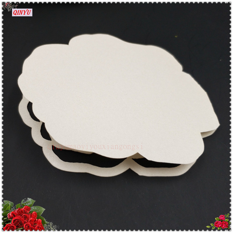 100pcs Rose shape DIY Place Escort Wine Glass Cup Paper Card for ...