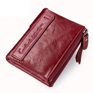 Image 3 - Vendita calda 2020 portamonete con cerniera portafoglio donna portafogli in vera pelle borsa moda borsa corta con porta carte di credito Hasp Design