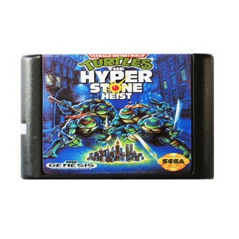 Tortugas El Hyperstone Heist 16 Bit Md Tarjeta De Juego Para Sega