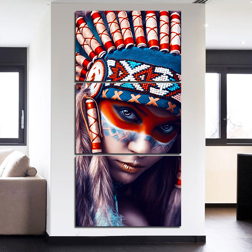 Canvas Wall Art Poster Hd Printed For Living Room Home Decor 3 Rhaliexpress: Native American Paintings For Living Room At Home Improvement Advice