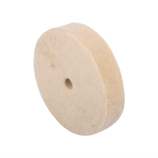 "100x25mm 4 ""beige pulido rueda de lana suave fieltro pulidor disco alta calidad"